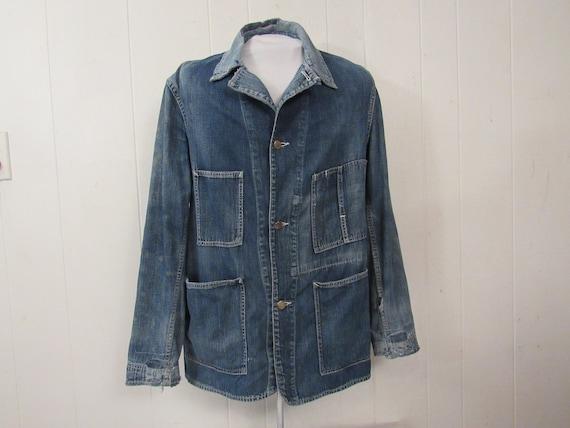 Vintage jacket, 1940s denim jacket, work jacket, b