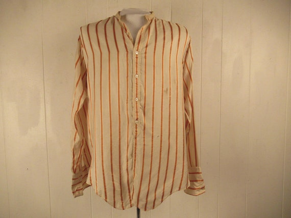 Vintage shirt, 1900s shirt, striped shirt, silk sh