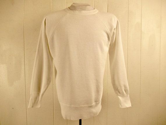 Vintage sweatshirt, size XL, 1950s sweatshirt, pla