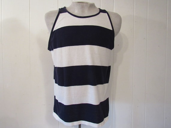 Vintage t shirt, 1960s t shirt, striped t shirt, n