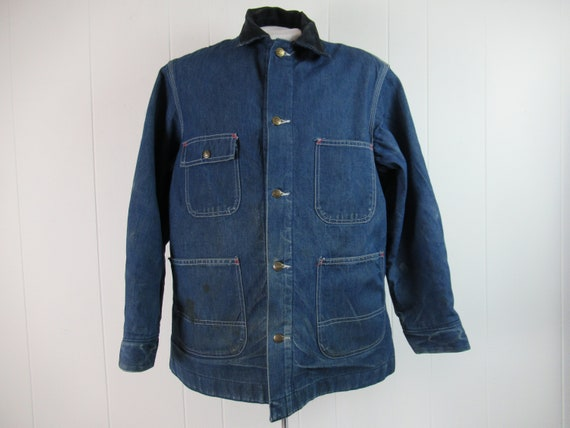 Vintage jacket, work jacket, denim jacket, Sears j