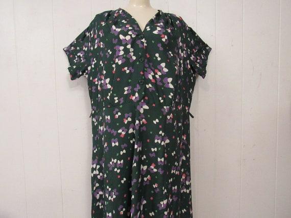 Vintage dress, Rayon dress, butterfly dress, Rocka