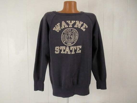 Vintage sweatshirt, 1950s sweatshirt, school sweat