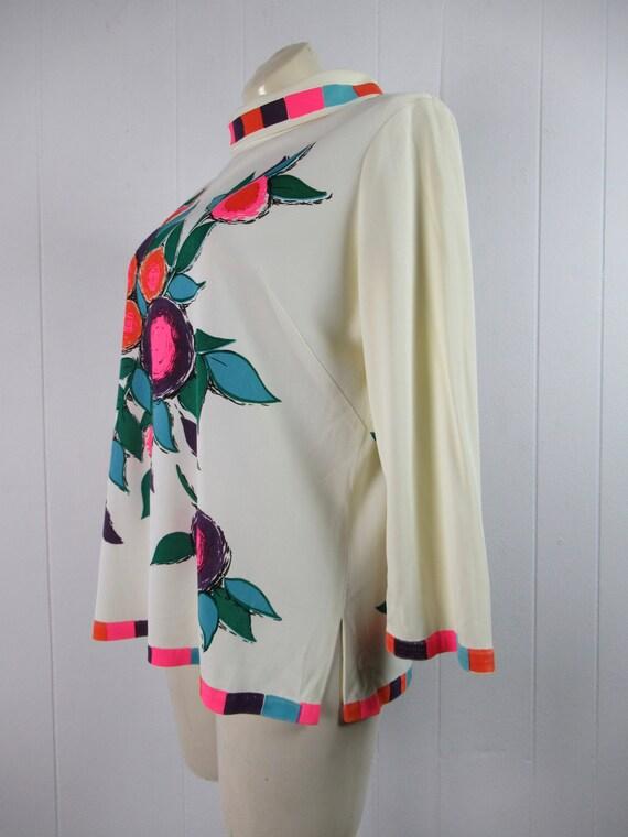 Vintage Mr Dino shirt, vintage blouse, 1960s shir… - image 4