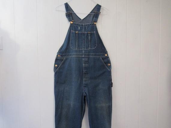 Vintage overalls, 1980s overalls, denim overalls,