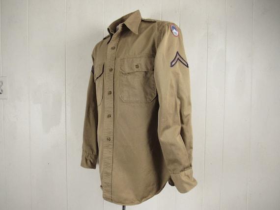 Vintage shirt, military shirt, 1940s shirt, WWII s