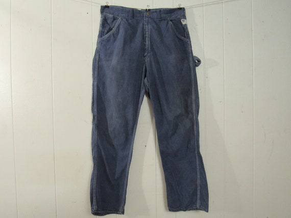 Vintage pants, denim pants, work pants, 1950s pant