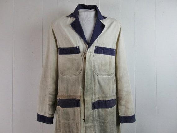 Vintage work jacket, 1940s work jacket, Detroit Ov
