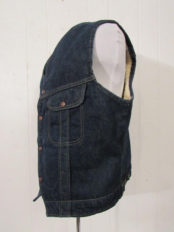 Vintage denim vest, vintage vest, cowboy western … - image 3