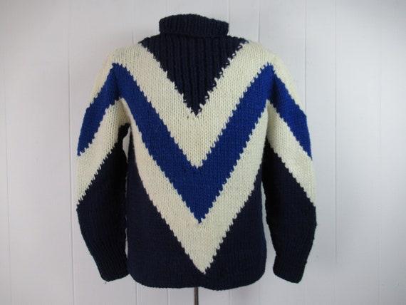 Vintage sweater, 1950s sweater, chevron sweater, b