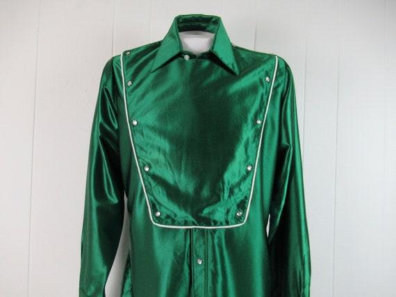 Vintage shirt, cowboy shirt, green shirt, western