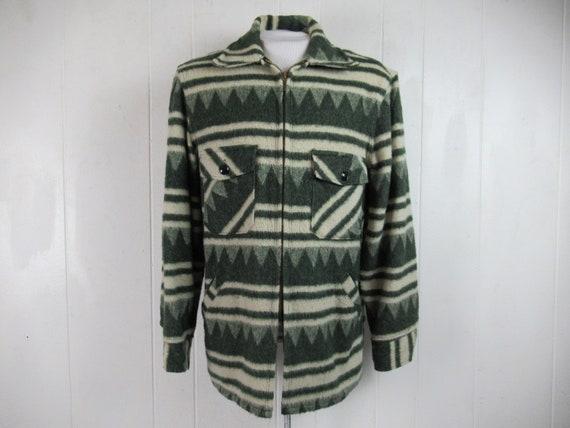 VINTAGE JACKET, 1950s jacket, Indian Blanket jacke