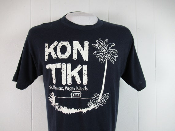 Vintage t shirt, Tiki t shirt, 1980s t shirt, Kon