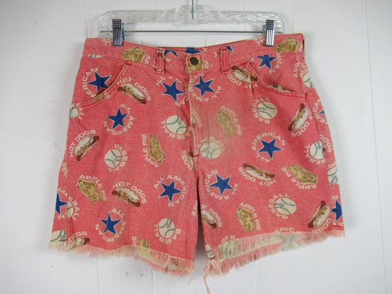 Vintage shorts, novelty shorts, vintage cut offs,