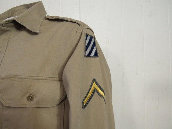 Vintage shirt, military shirt, Army shirt, 1950s … - image 2