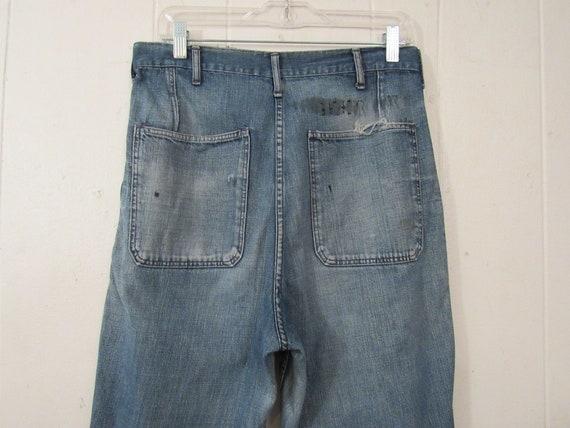 Vintage denim pants, 1940s pants, patched pants, … - image 7