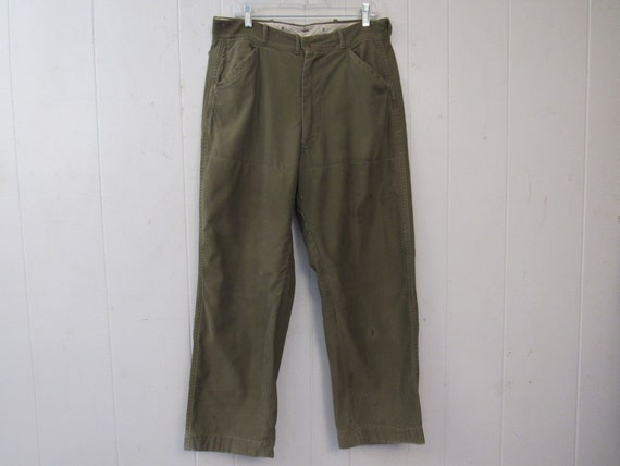 Vintage pants, hunting pants, 1960s pants, cotton