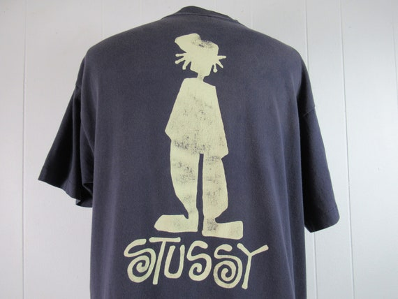 Vintage t shirt, Stussy t shirt, 1980s t shirt, gr