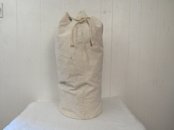 Vintage bag, duffel bag, 1940s canvas bag, U.S.N.