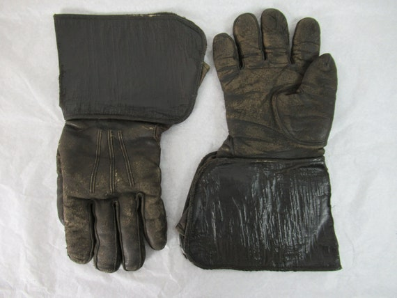 Vintage gloves, motorcycle gloves, 1920s gloves, g