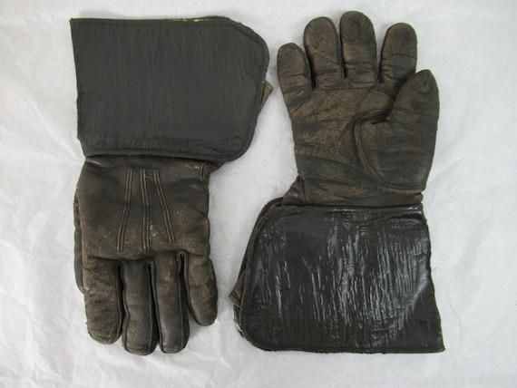 Vintage gloves, motorcycle gloves, 1920s gloves, … - image 1