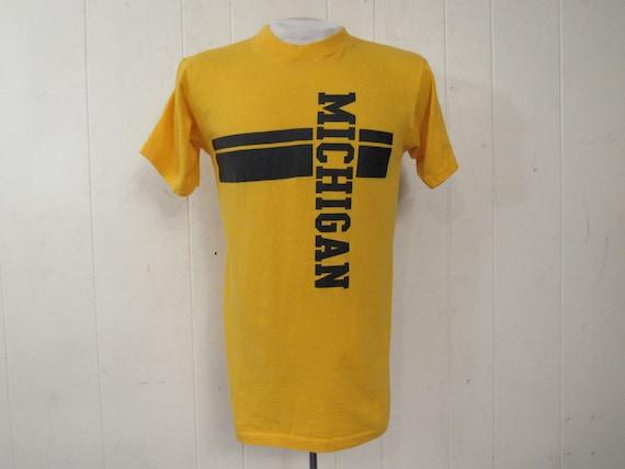 Vintage t shirt, Michigan t shirt, 1970s t shirt,