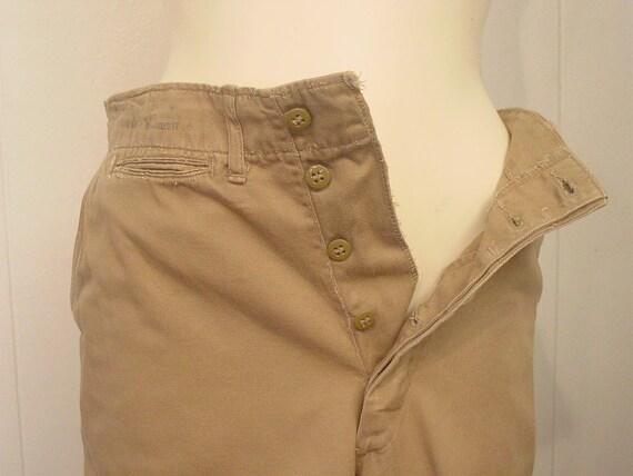 Vintage high waisted pants, khaki pants, Army pan… - image 5