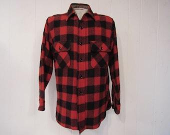 Vintage shirt, plaid shirt, 1950s shirt, Pilgrim shirt, vintage plaid, vintage clothing, medium
