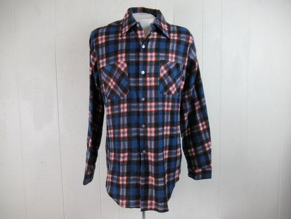 VINTAGE SHIRT, flannel shirt, plaid flannel, Sears