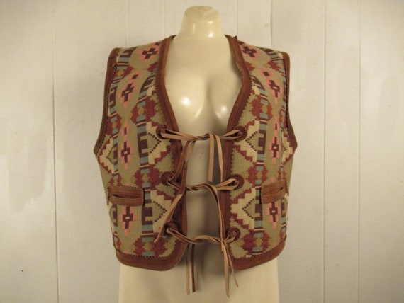 Vintage vest, southwestern vest, Ralph Lauren vest