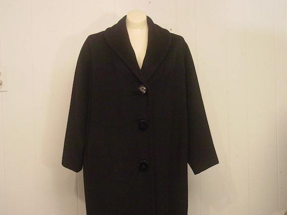 Vintage coat, womens coat, Lilly Ann coat, 1950s c