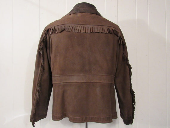 Vintage jacket, leather jacket, fringe jacket, we… - image 4