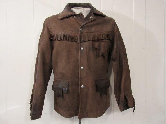 Vintage jacket, leather jacket, fringe jacket, we… - image 1