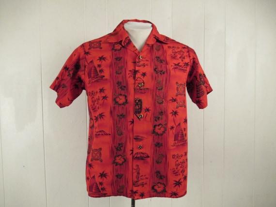 Vintage shirt, Hawaiian shirt, 1950s Hawaiian shir