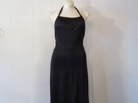 Vintage dress, 1970s dress, Disco dress, halter dr