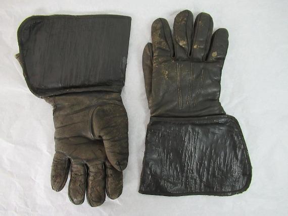 Vintage gloves, motorcycle gloves, 1920s gloves, … - image 2