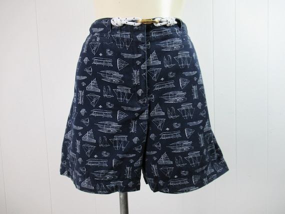 Vintage shorts, nautical shorts, Ralph Lauren shor
