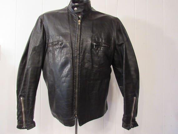 Vintage Jacke, Motorradjacke, Lederjacke, 1960er Jahre Jacke, Cafe Racer, Vintage Kleidung, Medium