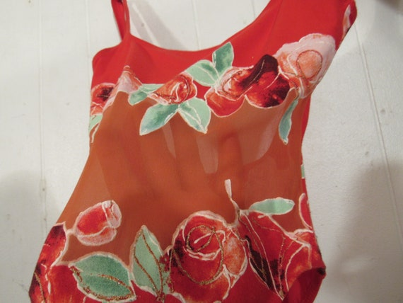 Vintage swimsuit, 1980s swimsuit, suit and top, 2… - image 5