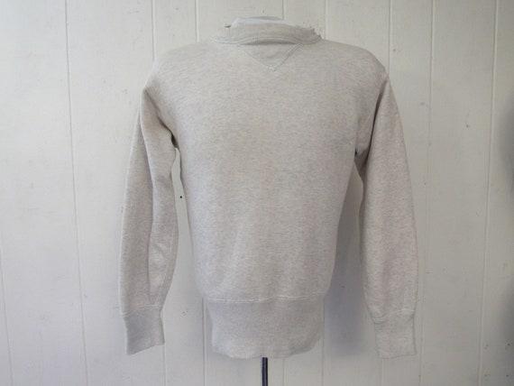 Vintage sweatshirt, 1940s sweatshirt, V sweatshirt