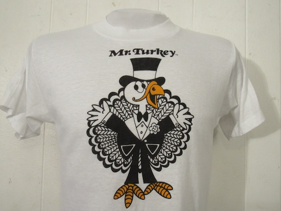 Vintage t shirt, 1970s t shirt, Mr Turkey t shirt,