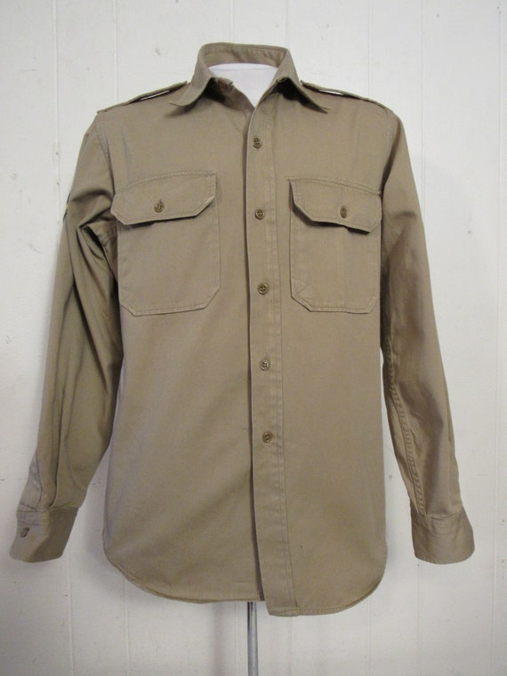 Vintage shirt, military shirt, Army shirt, 1950s … - image 3