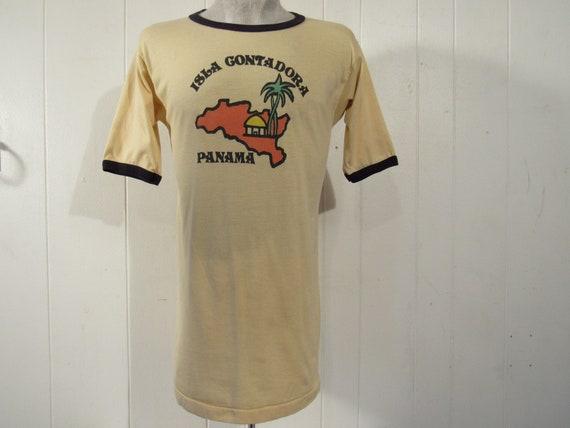 Vintage t-shirt, 1960s t shirt, Isla Gutadora, Pan