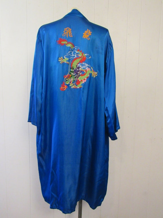 Vintage robe, Asian robe, silk robe, embroidered … - image 2