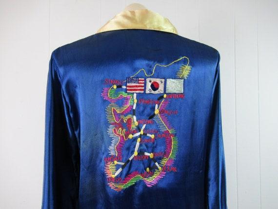 Vintage souvenir shirt, vintage pajamas, Korean pa