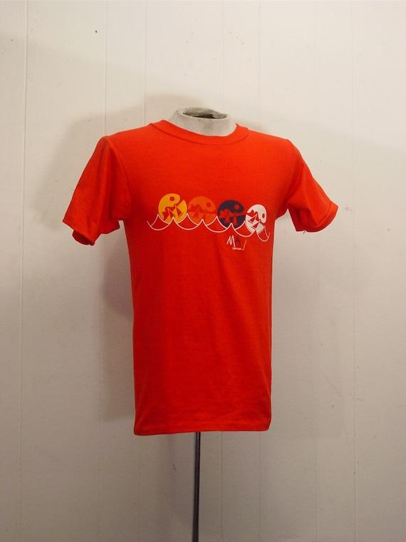 Vintage T-shirts, 1980s t shirt, Hawaiian t shirt,