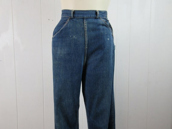 Vintage denim pants, 1940s denim, vintage denim, 1