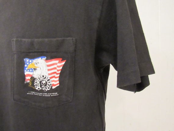 Vintage t shirt, pocket t shirt, motorcycle t shir