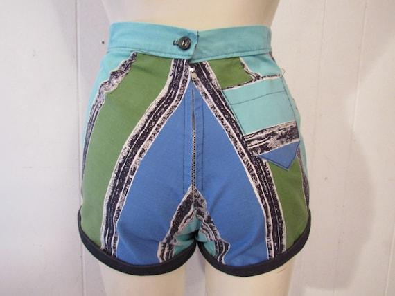 Vintage shorts, 1940s shorts, pin up shorts, cott… - image 3