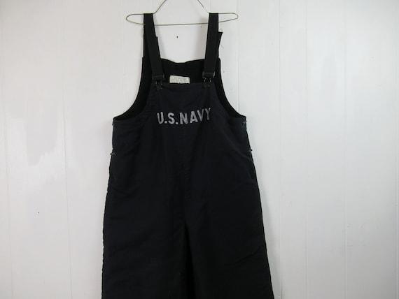Vintage overalls, U.S. Navy overalls, 1940s overal